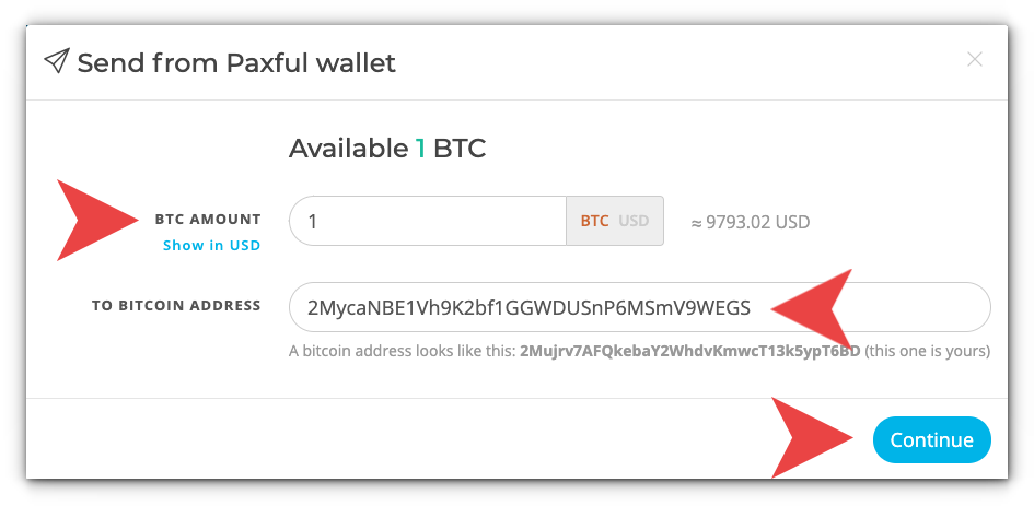 Sending Bitcoin Paxful Knowledge Base